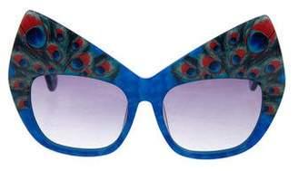 Karlsson Anna-Karin Peacock Oversize Sunglasses