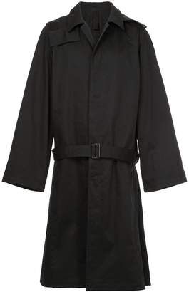 Lemaire belted single-breasted fitted coat