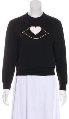 See by Chloe Cutout Embroidered Sweatshirt