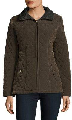 Gallery Plus Quilted Zip-Front Jacket