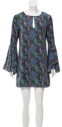 Elizabeth and James Silk Long Sleeve Dress