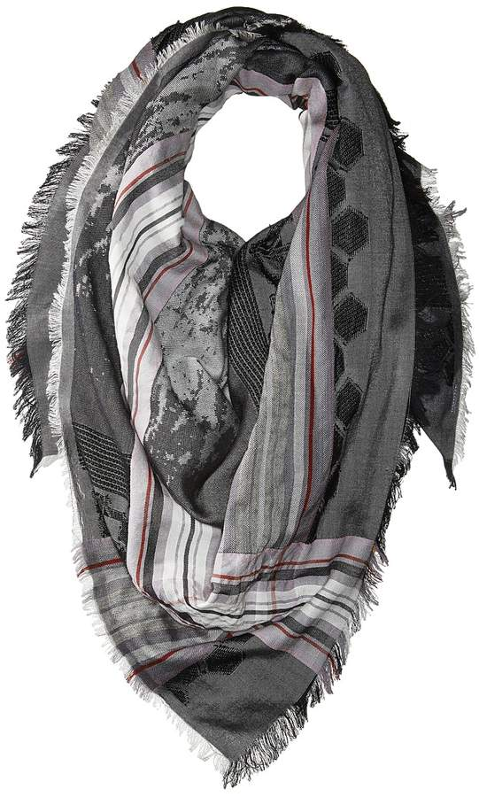 Echo Design - Oversize Plaid Square Scarf Scarves