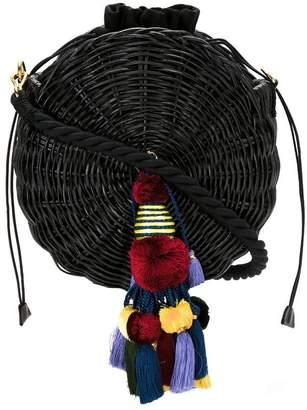 Isla woven shoulder bag