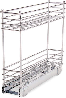 Household Essentials Chrome Glidez Narrow 5-Inch Sliding Organizer