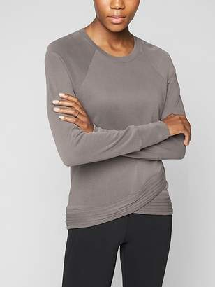 Athleta Serenity Criss Cross Sweatshirt