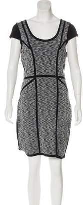 Milly Scoop Neck Knit Mini Dress
