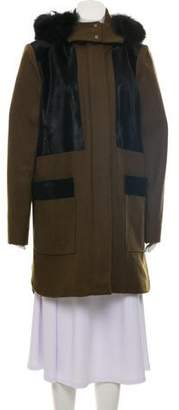 Zac Posen Aster Wool-Blend Coat w/ Tags
