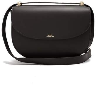 A.P.C. Geneve Leather Cross Body Bag - Womens - Black