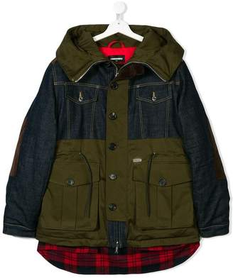 DSQUARED2 TEEN contrast coat