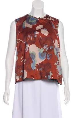 Dries Van Noten Watercolor Floral Top