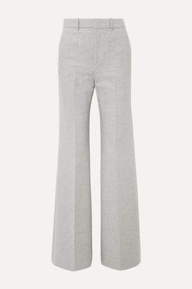 Joseph Jess Herringbone Wool-blend Bootcut Pants - Light gray