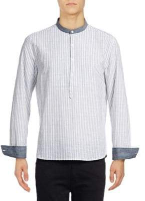 Michael Bastian Woven Striped Shirt