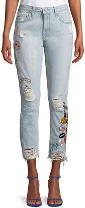 Logan Lovers And Friends High-Rise Patchwork Jeans