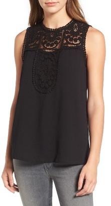 Women's Halogen Lace & Crepe Top $59 thestylecure.com