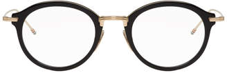 Thom Browne Black and Gold TBX908 Glasses