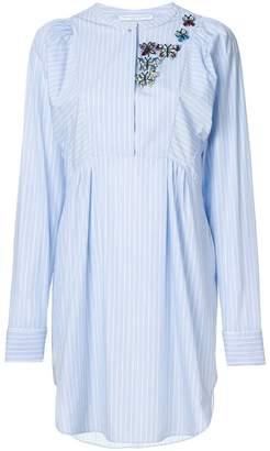 Ermanno Scervino embellished striped dress
