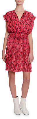 Kenzo Printed Soft Flare Short Dress