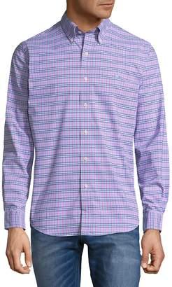 Ralph Lauren Men's Plaid Button-Down Shirt - Pink-green, Size l