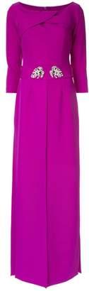Safiyaa London magenta panelled dress