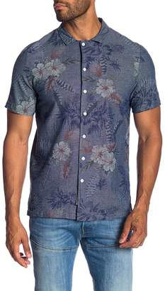 NATIVE YOUTH Floral Sketch Short Sleeve Sport Shirt