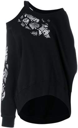 Marcelo Burlon County of Milan Snakes crop sweatshirt
