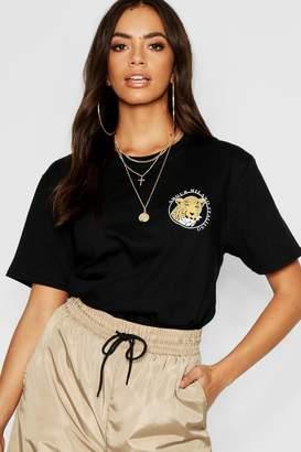 boohoo Leopard Pocket Print T-Shirt