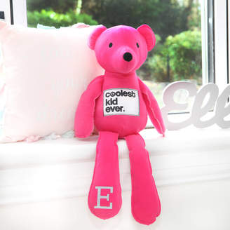 red berry apple Pink Jersey Bear With Personalised Initial On Paw