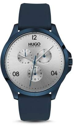 HUGO #RISK Blue & Silver Watch, 41mm