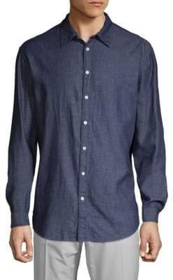 DKNY Twill Rumple Button-Down Shirt