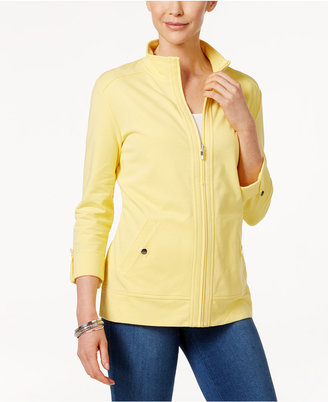 Karen Scott Roll-Tab Active Jacket, Only at Macy's $49.50 thestylecure.com