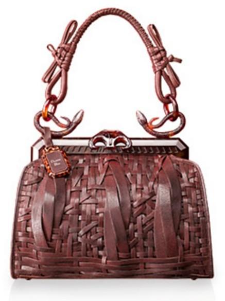 Dior Samourai 1947 Woven Bag, Brown