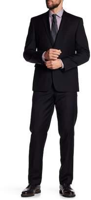Vince Camuto Black Two Button Notch Lapel Wool Slim Fit Suit