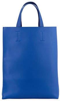 Neiman Marcus Saffiano Faux-Leather Shopper Tote Bag