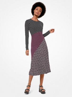 MICHAEL Michael Kors Mixed Print Matte-Jersey Dress