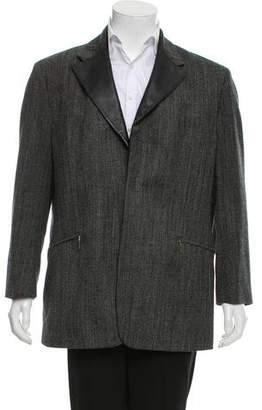 Versace Woven Tonal Jacket