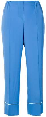No.21 cropped high-waisted trousers