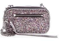 Rebecca Minkoff Glitter Double Zip Crossbody Bag