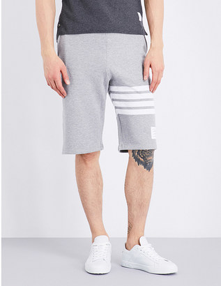 Thom Browne Four-stripe cotton-jersey shorts $465 thestylecure.com