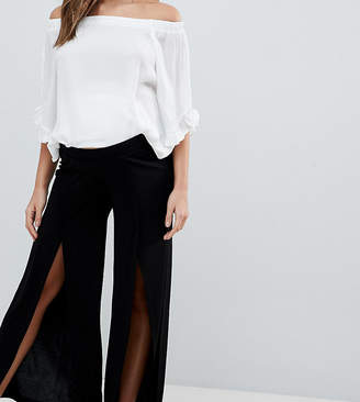 Asos DESIGN Maternity wide leg trousers with split front