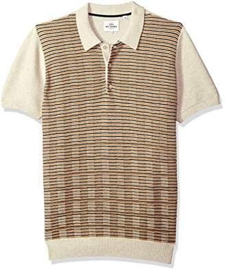 Ben Sherman Men's Mixed Stripe Panel Knit Polo