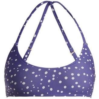 Bower - Catroux Polka Dot Bikini Top - Womens - Blue Multi