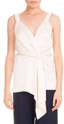 Victoria Beckham Faux-Wrap V-Neck Top