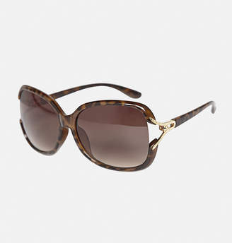 Avenue Oversized Golden Loop Tortoise Sunglasses