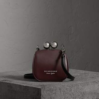 Burberry Mini Two-tone Leather Frame Bag