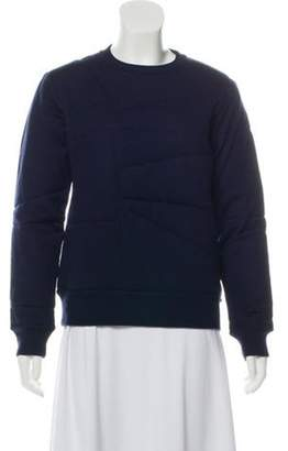 Acne Studios Quilted Boxed Sweatshirt Navy Quilted Boxed Sweatshirt