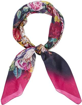 Accessorize Renaissance Bloom Silk Square Scarf