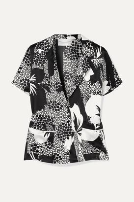 Marie France Van Damme - Printed Silk-satin Shirt - Black