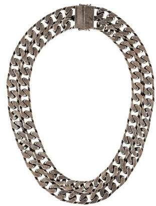 Saint Laurent Double Curb Chain Necklace