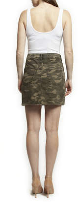 Dex Washed Camo Mini Skirt