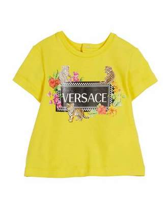 Versace Short-Sleeve Box Logo & Assorted Graphics Tee, Size 12-36 Months